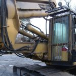 Rehose and refit tool on excavator