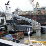 Coastal Hydraulics crane repairs onsite