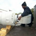 large marine dredge cylinder