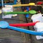 Manual hydraulic crane brake repairs