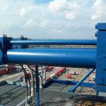 Marine load snag port cylinder