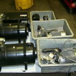 mobile hydraulic power units disassembled and diagnosed
